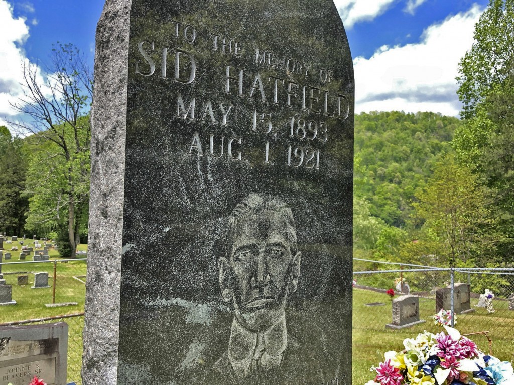 In this Tuesday, May 12, 2020, photo is the gravestone of Sid Hatfield, in Buskirk, Ky. Hatfield was the police chief in nearby Matewan, W.Va He was i...