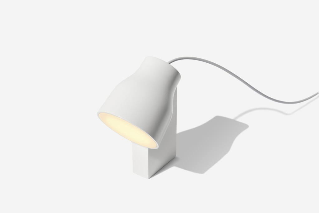 This undated photo provided by Gantri shows one of their lamps made from PLA, a product the San Francisco-based Gantri makes which processes corn kern...