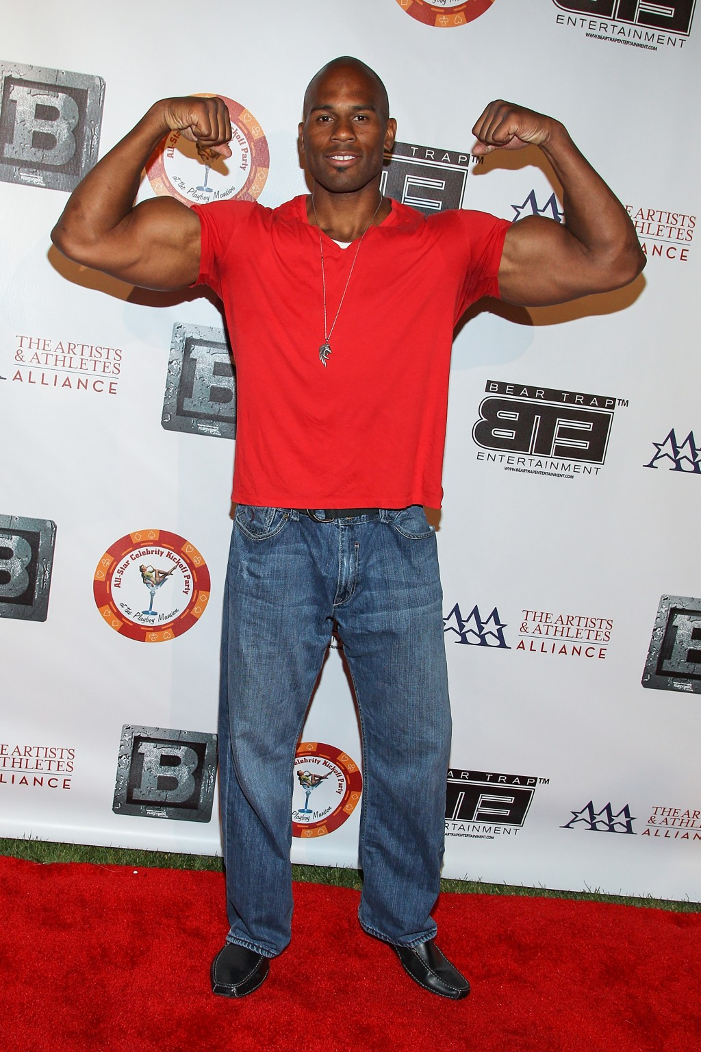 FILE - In this July 15, 2013 file photo, professional wrestler Shad Gaspard attends the 8th Annual BTE All-Star Celebrity Kickoff Party at the Playboy...