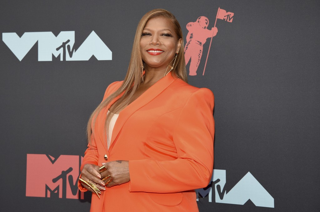 FILE - In this Aug. 26, 2019 file photo, Queen Latifah arrives at the MTV Video Music Awards in Newark, N.J. Queen Latifah will step into the role of ...