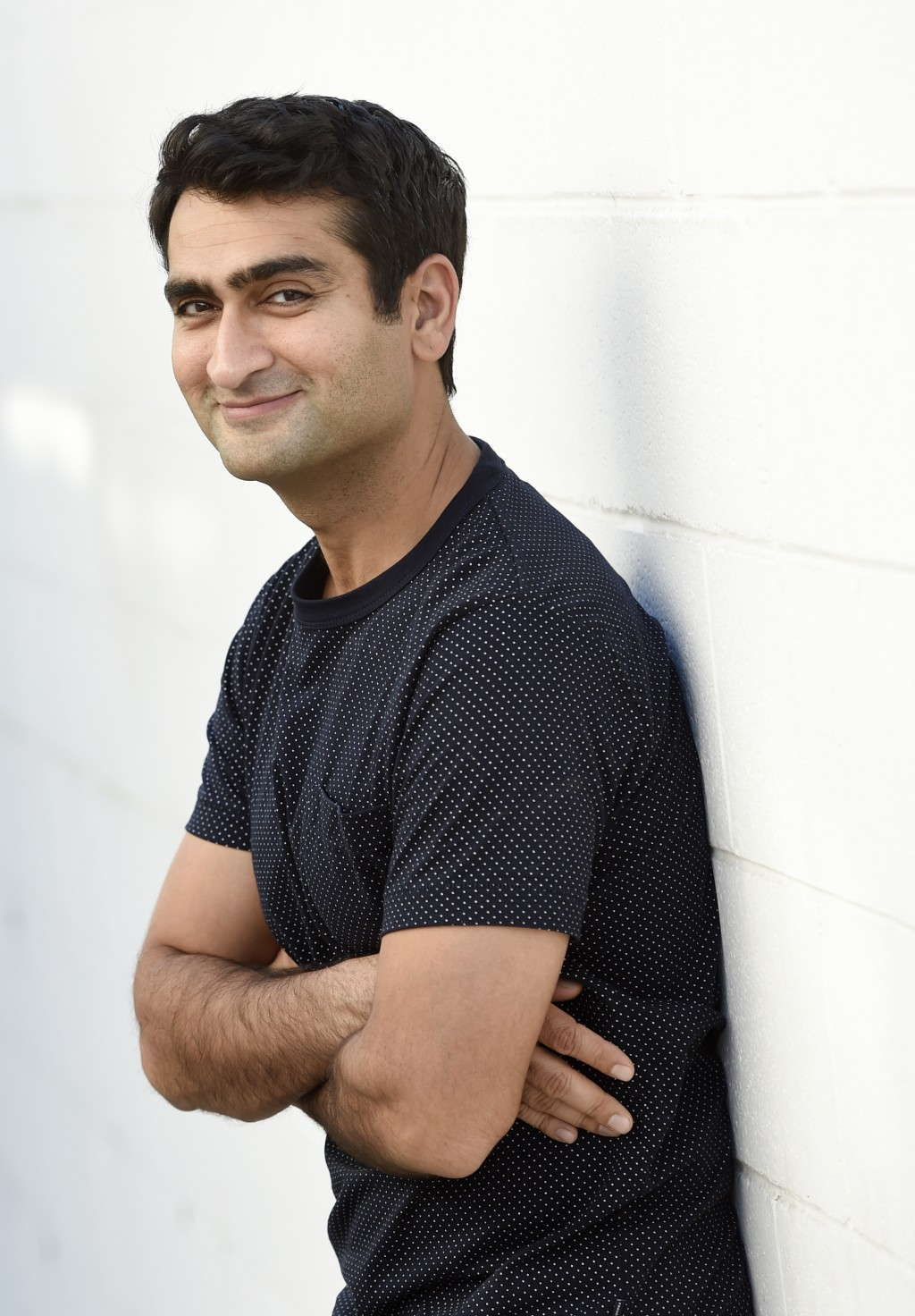 "FILE - In this Nov. 21, 2017 file photo, actor-comedian Kumail Nanjiani poses at his home in Los Angeles. Nanjiani stars in the new Netflix comedy ""Lo..."