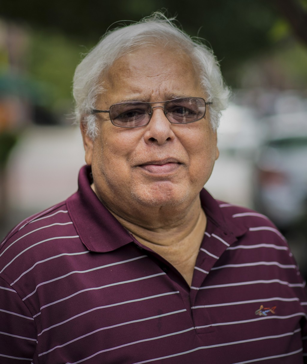 This undated photo provided by Brian Cheng on Monday, May 18, 2020, shows his father-in-law Shafqat Khan, a Pakistani immigrant living in Jersey City,...
