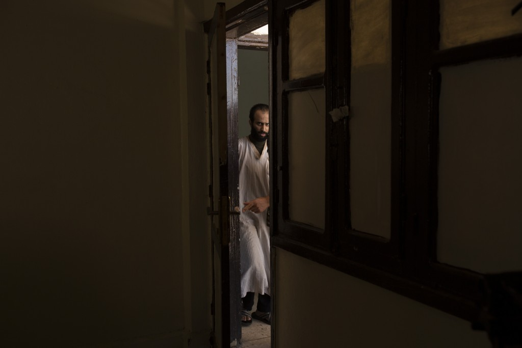 In this Sept. 4, 2019 photo, Abdul-Rahman al-Shmary, a Saudi Islamic State member who traded in Yazidi slaves and has been in a Syrian Kurdish-run pri...
