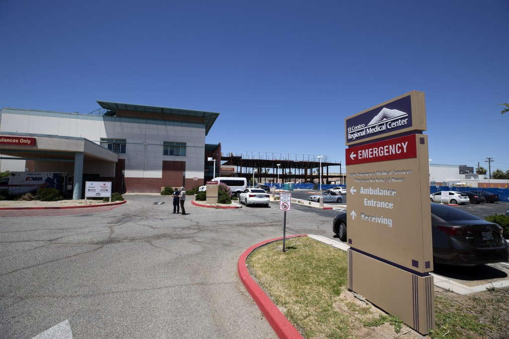 The El Centro Regional Medical Center is shown Wednesday, May 20, 2020, in El Centro, Calif. As much of California inches toward businesses reopening,...