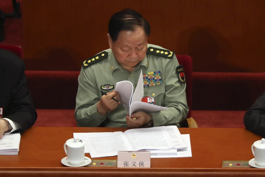 Zhang Youxia, vice chairman of China's Central Military Commission, attends the opening session of China's National People's Congress (NPC) at the Gre...