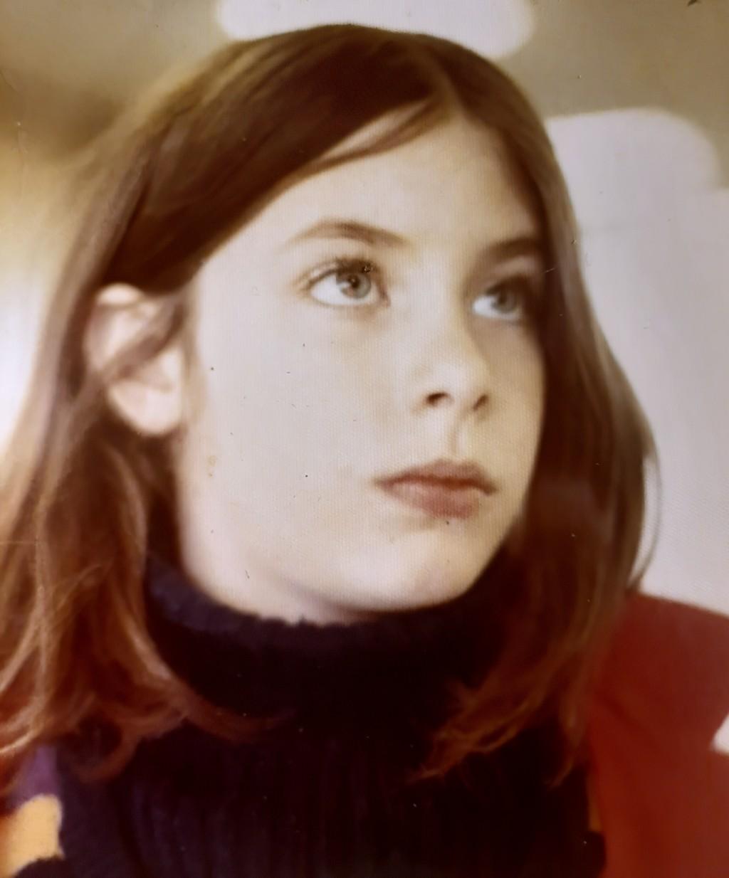 This photo provided by Tara Reade, shows Tara Reade in Wisconsin in 1971. (Tara Reade via AP)