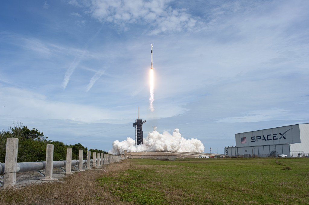 FILE - In this Jan. 19, 2020 file photok a SpaceX Falcon 9 rocket lifts off from Launch Complex 39A at NASA's Kennedy Space Center in Cape Canaveral, ...