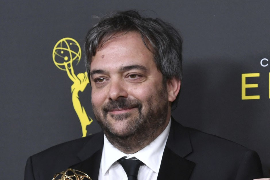 FILE - This Sept. 14, 2019 file photo shows Adam Schlesinger at the Creative Arts Emmy Awards in Los Angeles. (Photo by Richard Shotwell/Invision/AP, ...