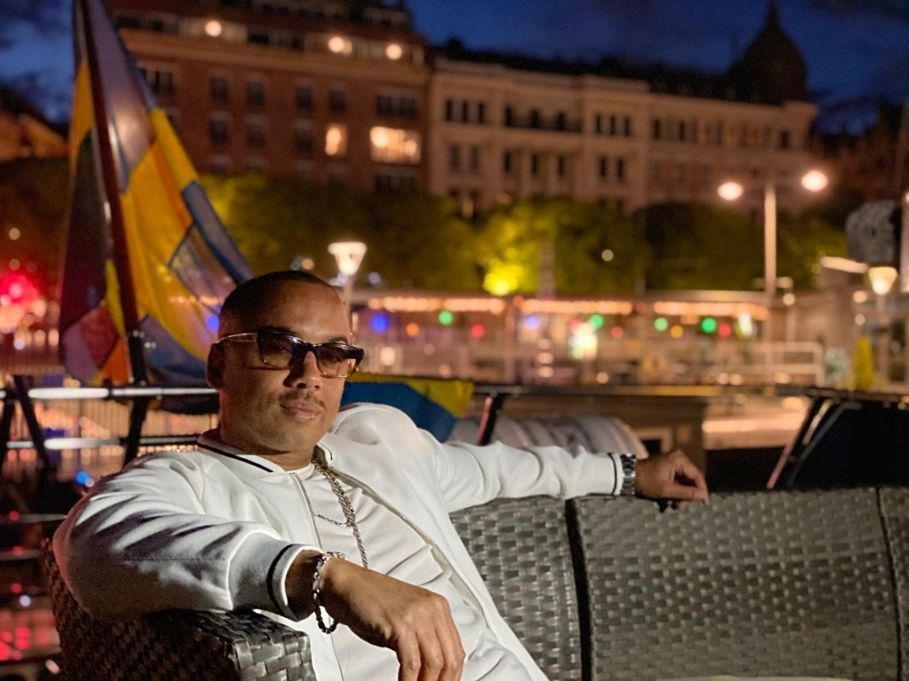 Music producer David Jassy poses for a portrait in Stockholm, Sweden. Jassy, whose prison sentence was commuted by California Gov. Gavin Newsom this y...
