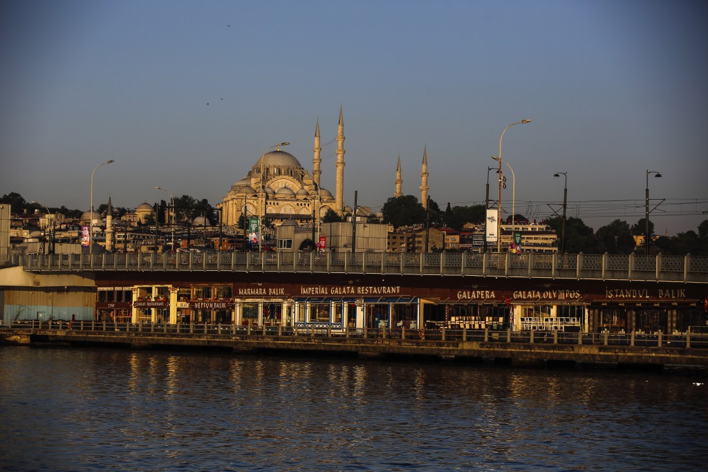 The historical Suleymaniye Mosque where only few face masked people allowed to offer the Eid al-Fitr prayer amid concerns of the coronavirus outbreak,...