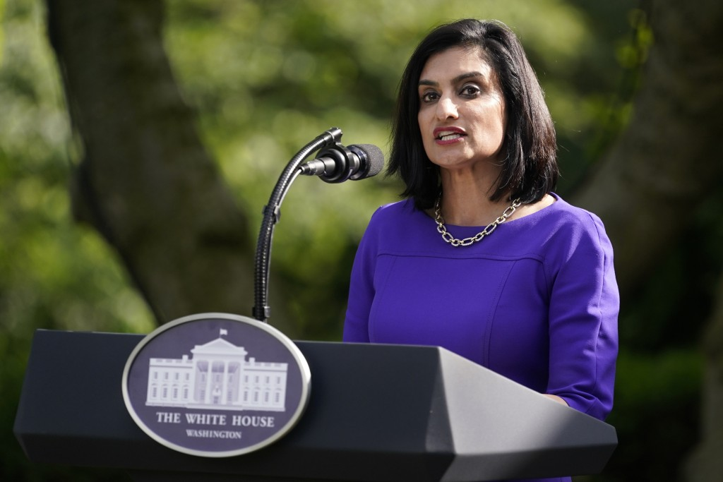 Administrator of the Centers for Medicare and Medicaid Services Seema Verma speaks at an event on protecting seniors with diabetes in the Rose Garden ...