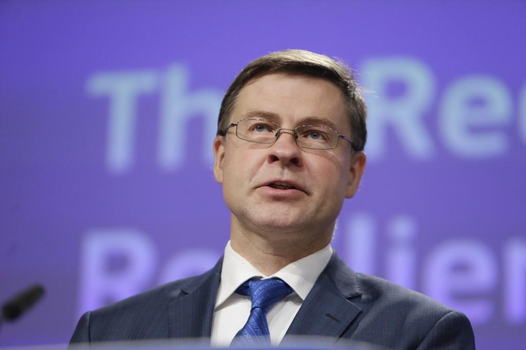 歐盟執委會副主席杜姆布羅夫斯基斯 (來源:美聯社)
