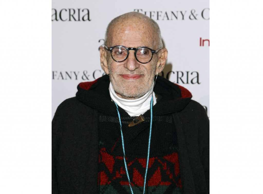 FILE - In this Dec. 10, 2014 file photo, playwright Larry Kramer attends Acria's 19th Annual Holiday Dinner Benefit in New York. Kramer, the playwrigh...