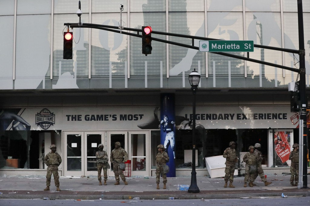 College Football Hall of Fame Destroyed During Atlanta Protests