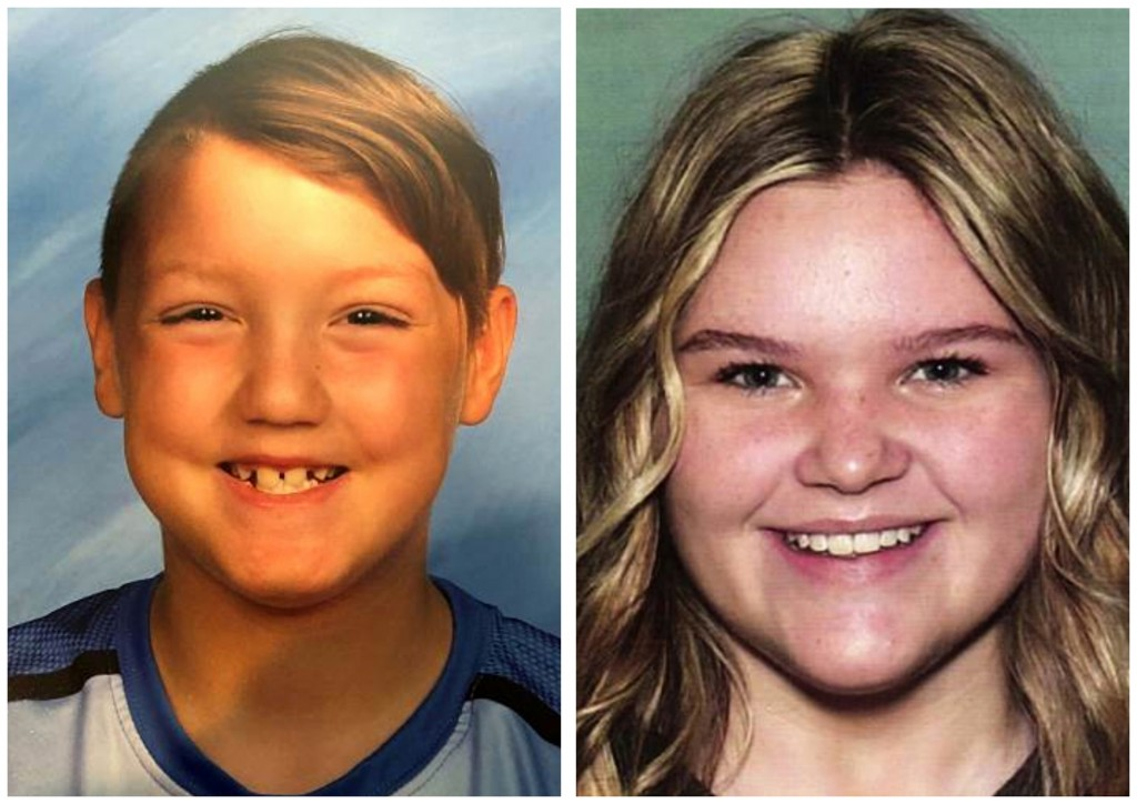FILE - This combination of undated file photos released by the National Center for Missing & Exploited Children show missing children Joshua Vallow, l...