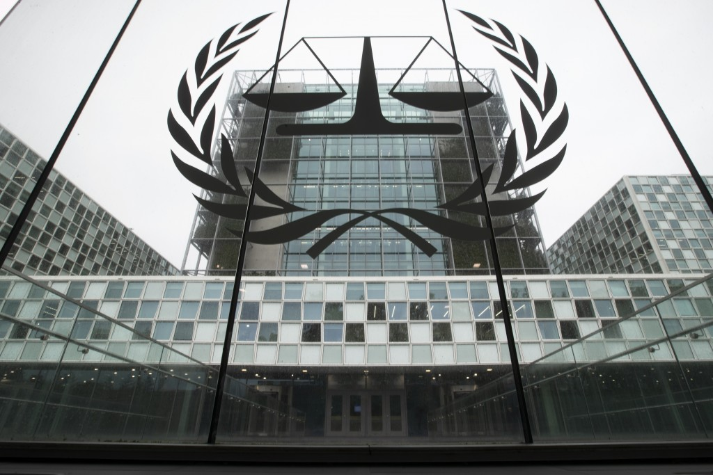 FILE- In this Nov. 7, 2019 file photo, the International Criminal Court, or ICC, is seen in The Hague, Netherlands. President Donald Trump has lobbed ...