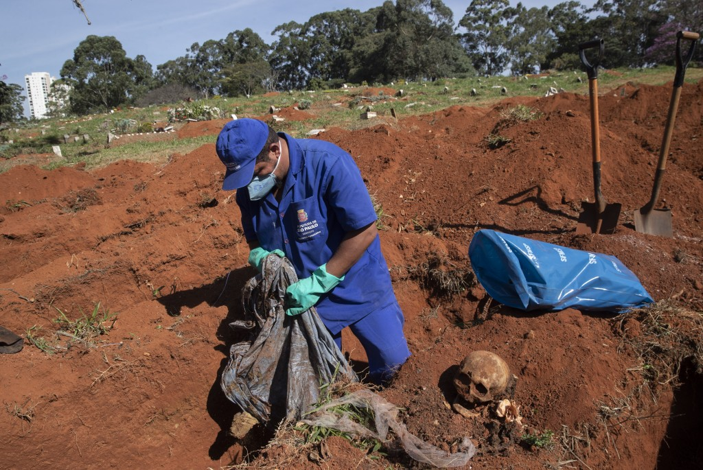 Coronavirus: Brazil's biggest cemetery to dig out graves to free up space