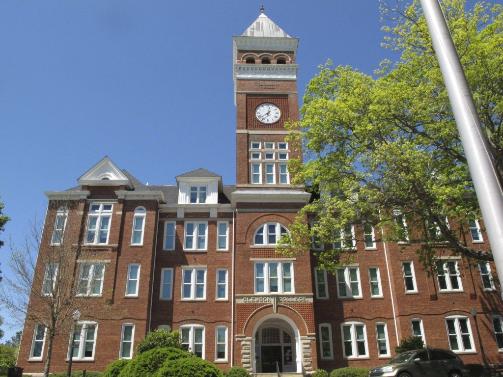Tillman Hall on the campus of Clemson University is seen on Monday, April 18, 2016, in Clemson, SC. Students have spent a week at Sikes Hall, calling ...