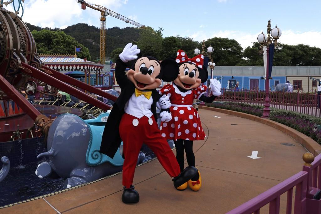香港迪士尼在6月間重新開放前夕舉辦媒體導覽(照片來源:美聯社提供)