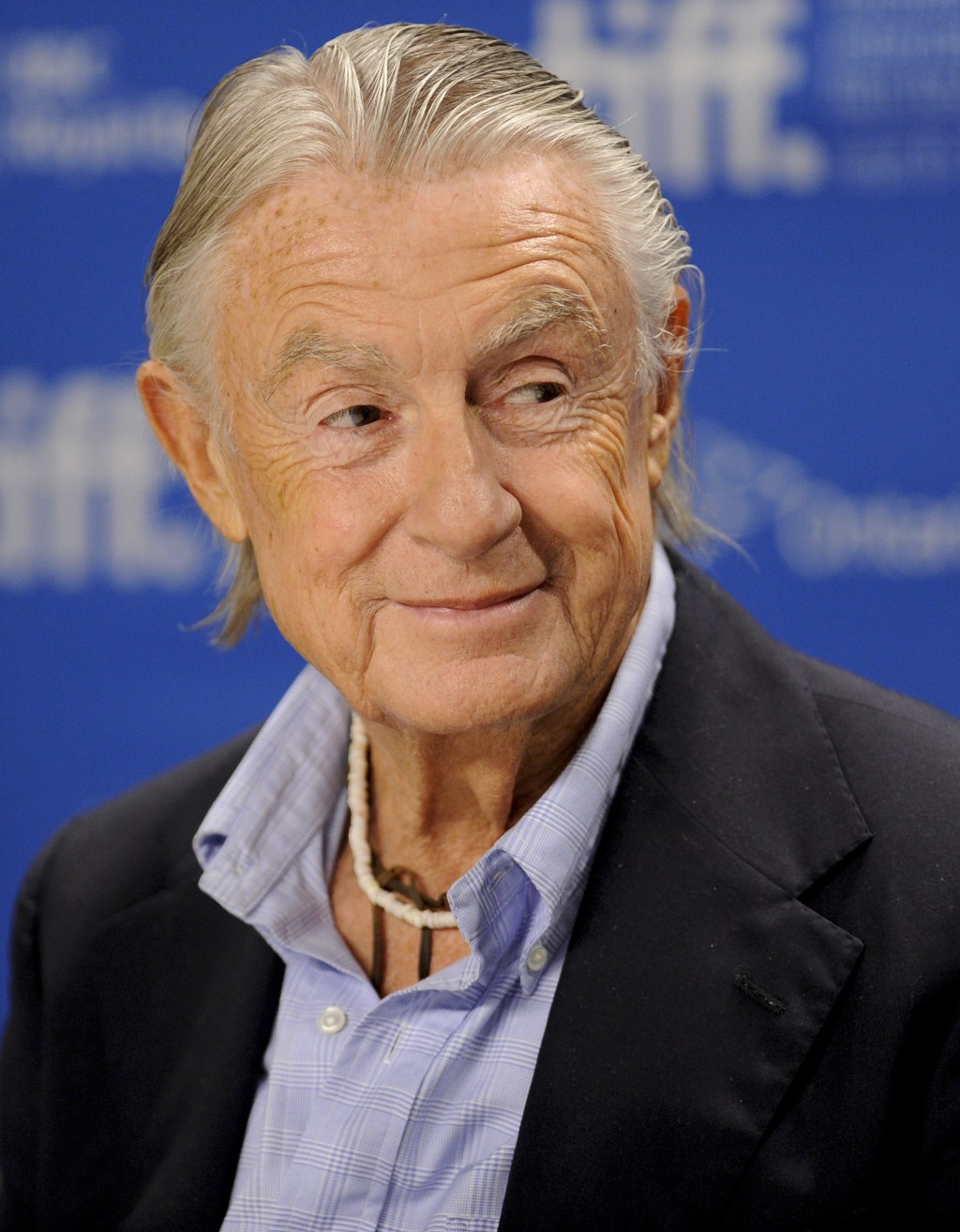 "FILE - In this Sept. 14, 2011 file photo, director Joel Schumacher participates in a news conference for the film ""Trespass"" during the Toronto Intern..."