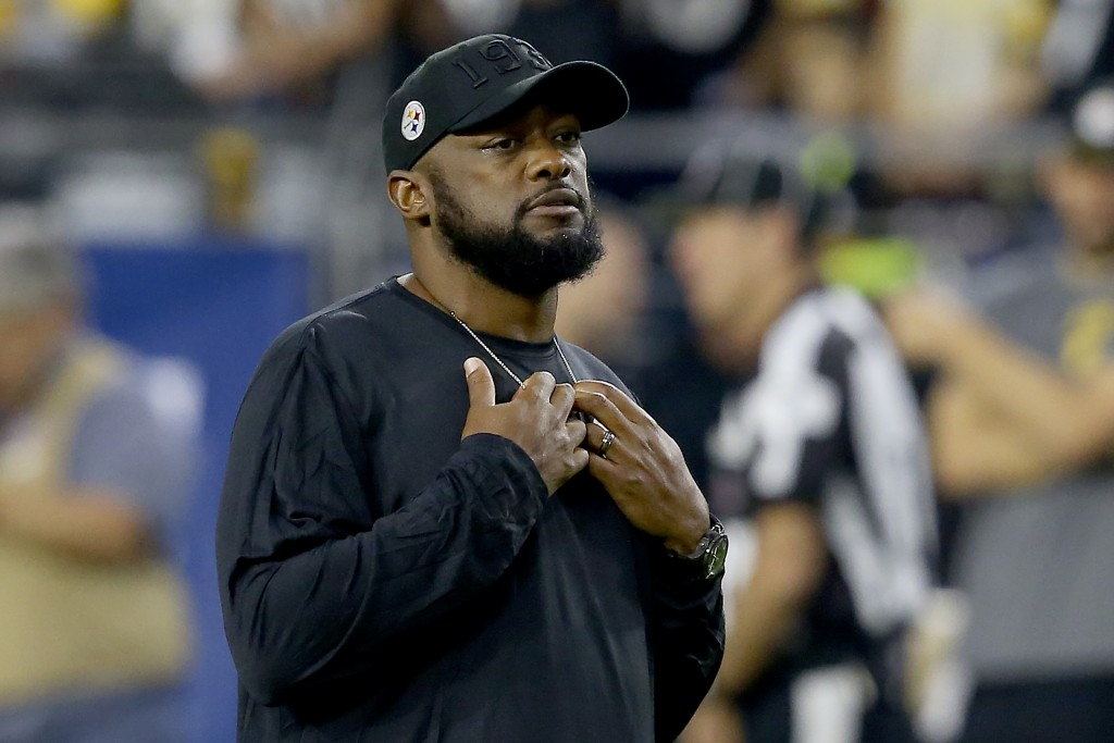 FILE - In this Dec. 8, 2019, file photo, Pittsburgh Steelers head coach Mike Tomlin is shown prior to an NFL football game against the Arizona Cardina...