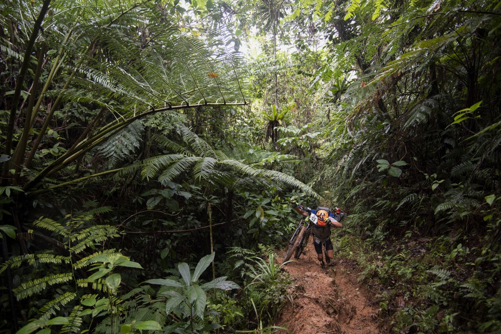 """This image released by Amazon shows a scene from the 2019 Eco-Challenge adventure race in Fiji. The competition's new 10-episode season, """"""""World's Tou..."""
