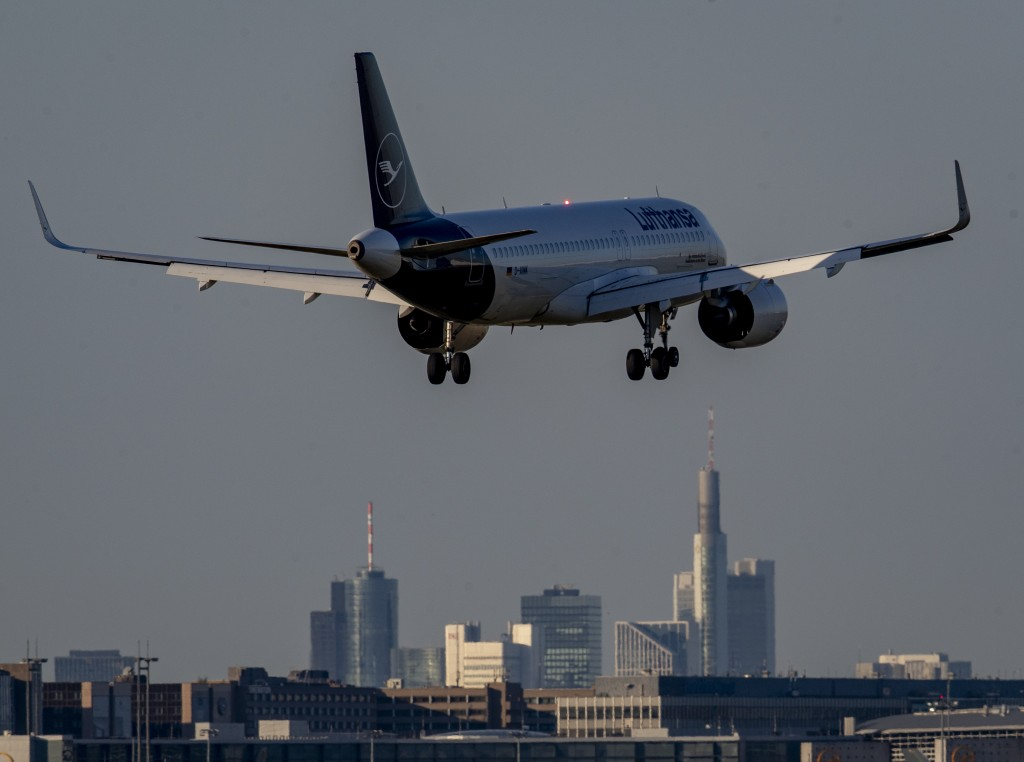 A Lufthansa aircraft approaches the airport in Frankfurt, Germany, Tuesday, June 23, 2020. The German airline Lufthansa will hold its annual sharehold...