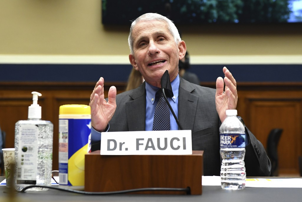 Director of the National Institute of Allergy and Infectious Diseases Dr. Anthony Fauci testifies before a House Committee on Energy and Commerce on t...