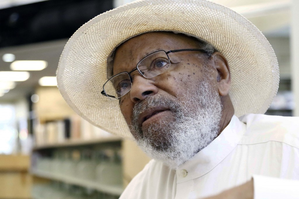 In this June 27, 2018 photograph, civil rights activist James Meredith, 85, speaks in Jackson, Miss. Today's protests across America against racial in...