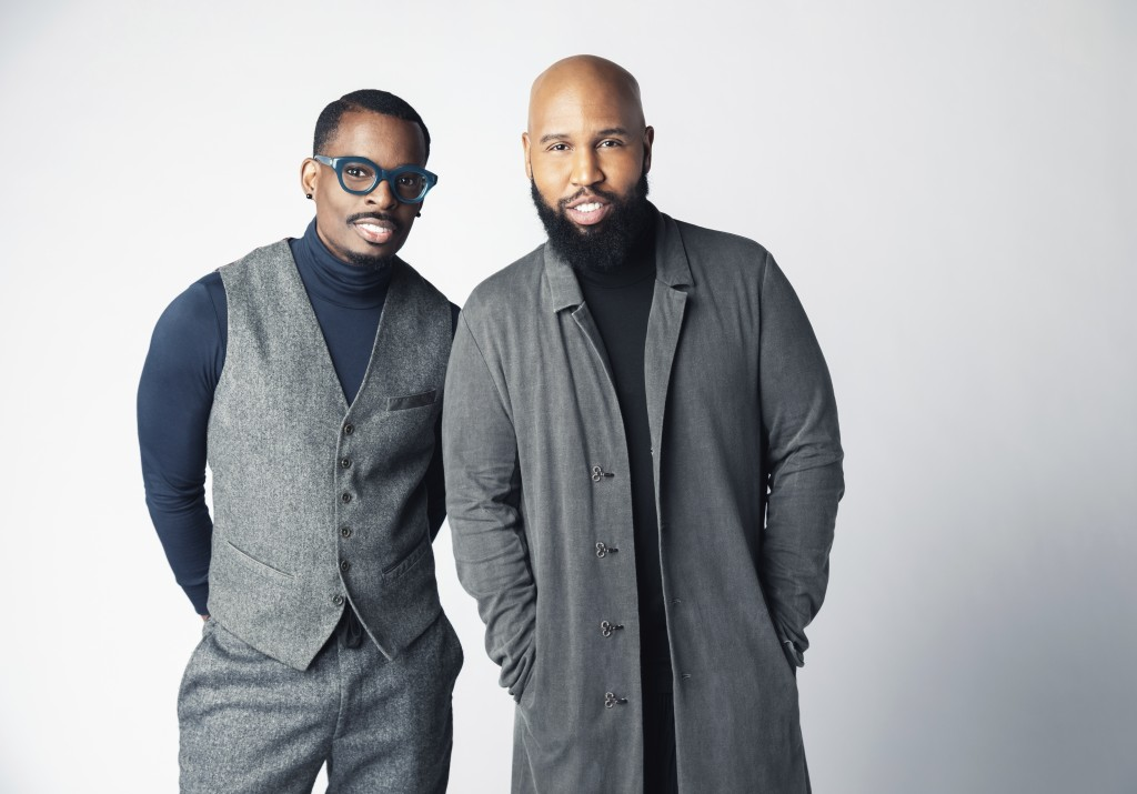 This 2019 image shows Chuck Harmony, left, and Claude Kelly of Louis York. Black artists say the country music industry still needs to do the hard wor...