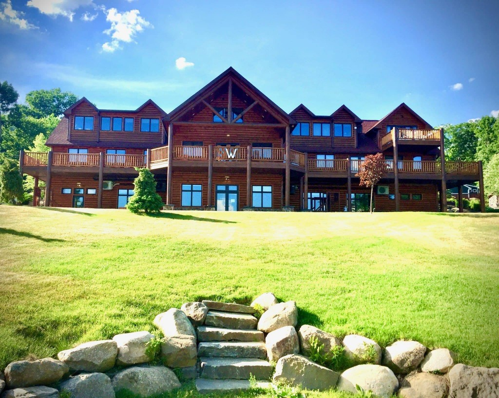This June 22, 2020, photo provided by Zack Pine shows the empty main campus of Camp Walden, a co-ed sleepaway camp near Lake George in Diamond Point, ...