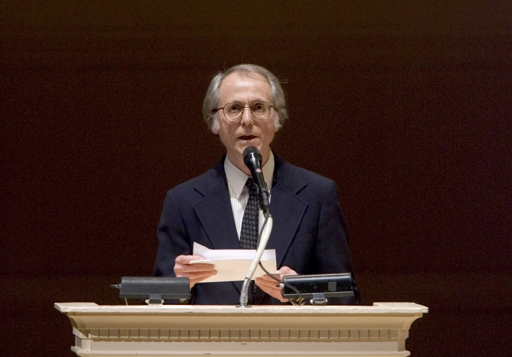 "FILE - In this April 9, 2008 file photo, author Don DeLillo speaks at ""The Time of His Life"", A Celebration of the Life of Norman Mailer tribute at Ca..."