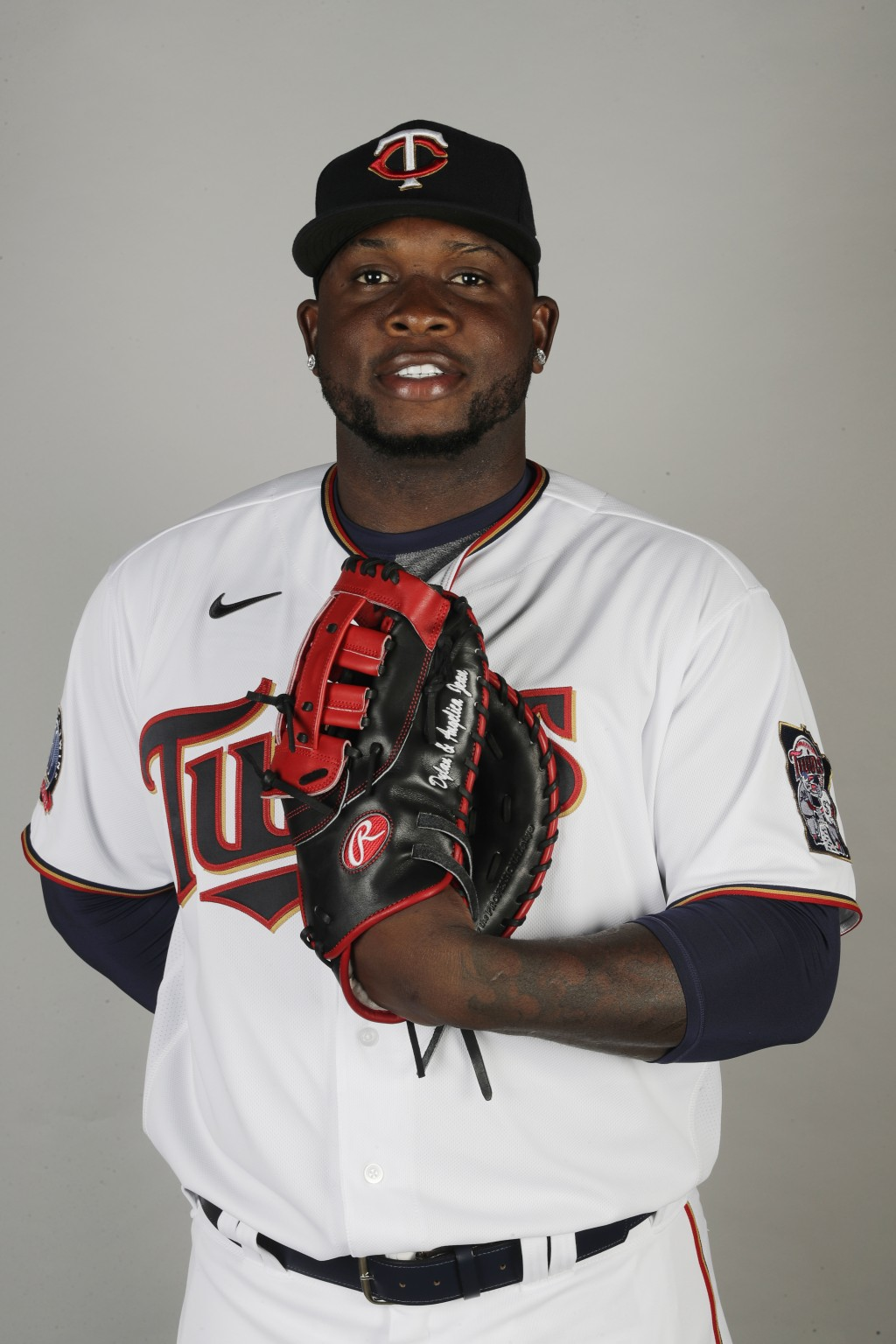 FILE - In this Feb. 20, 2020 file photo, Miguel Sano of the Minnesota Twins poses for a photo in Fort Myers, Fl. Authorities in the Dominican Republic...