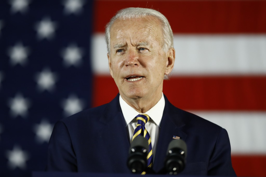 FILE - In this June 17, 2020, file photo, Democratic presidential candidate, former Vice President Joe Biden speaks in Darby, Pa. The coronavirus pand...