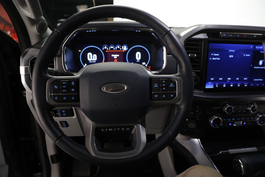 In a photo from, Wednesday, June 24, 2020, the interior on new 2021 Ford F-150 truck is photographed in Ferndale, Mich. Six years ago, Ford bet big on...