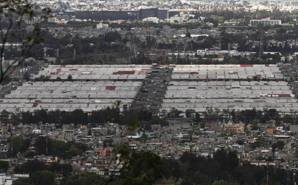 The Central de Abasto market, Mexico City's main food distribution center is seen amid the new coronavirus pandemic, Wednesday, June 3, 2020. The whol...