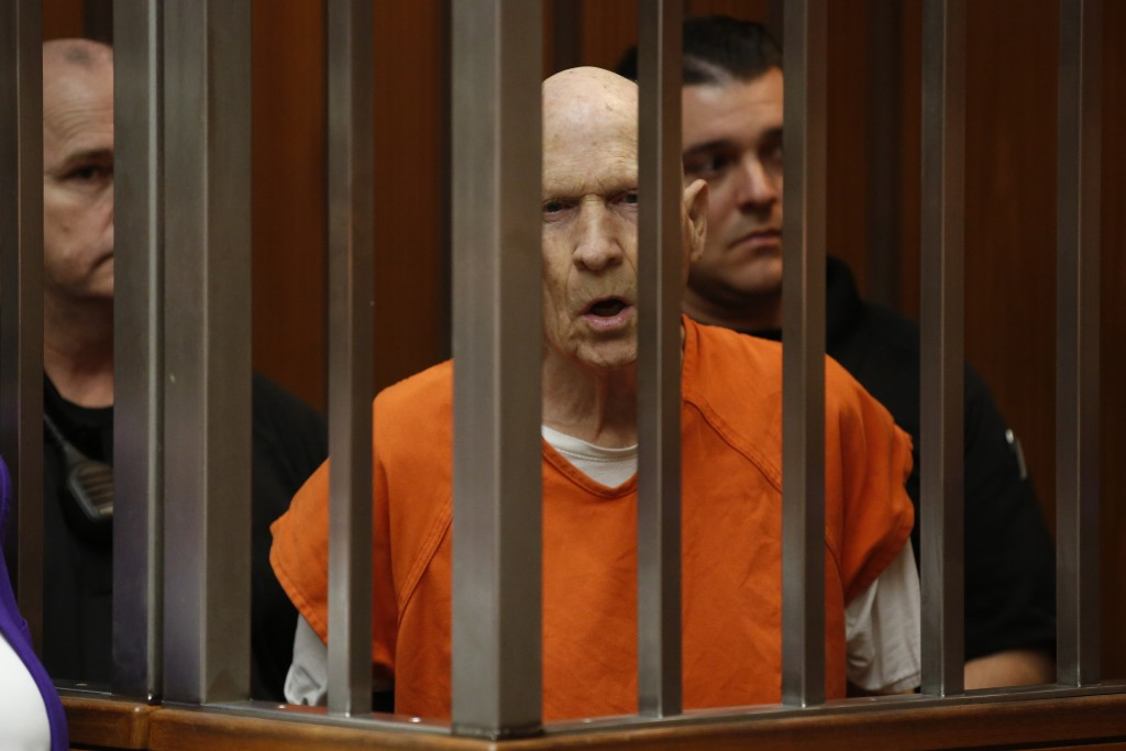 FILE - In this March 12, 2020, file photo, Joseph James DeAngelo, charged with being the Golden State Killer, appears in court in Sacramento, Calif. T...
