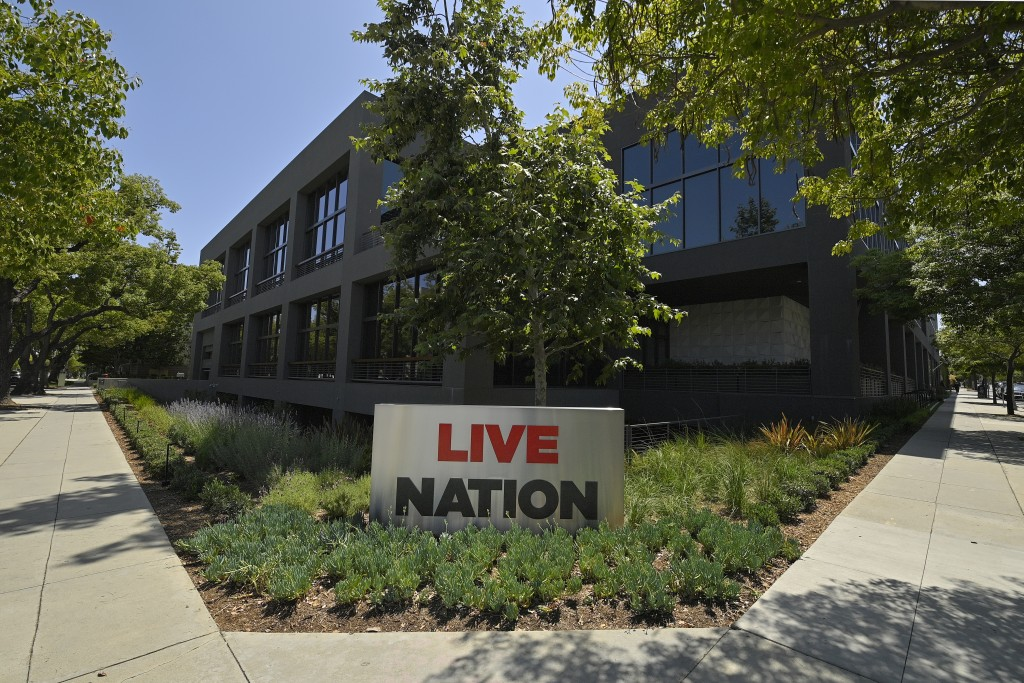 The headquarters of Live Nation is viewed Monday, June 29, 2020, in Beverly Hills, Calif. America's nightclubs are largely closed because of the coron...