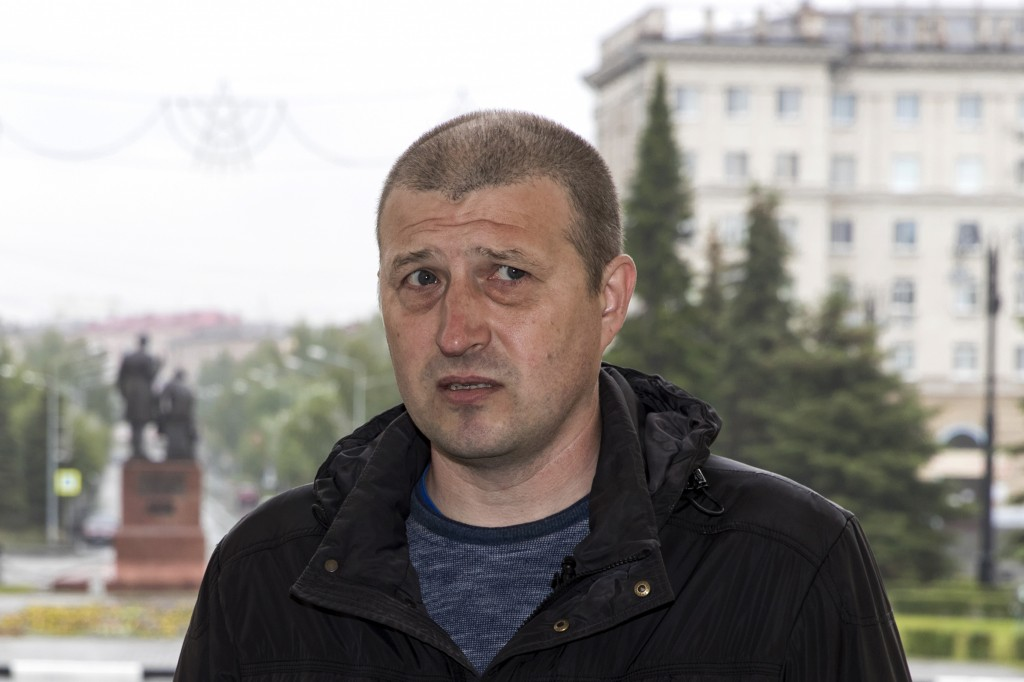In this photo taken on Sunday, June 28, 2020, Nikolay Nemytov, a 43-year-old engineer at Russian Railways, speaks during an interview with The Associa...
