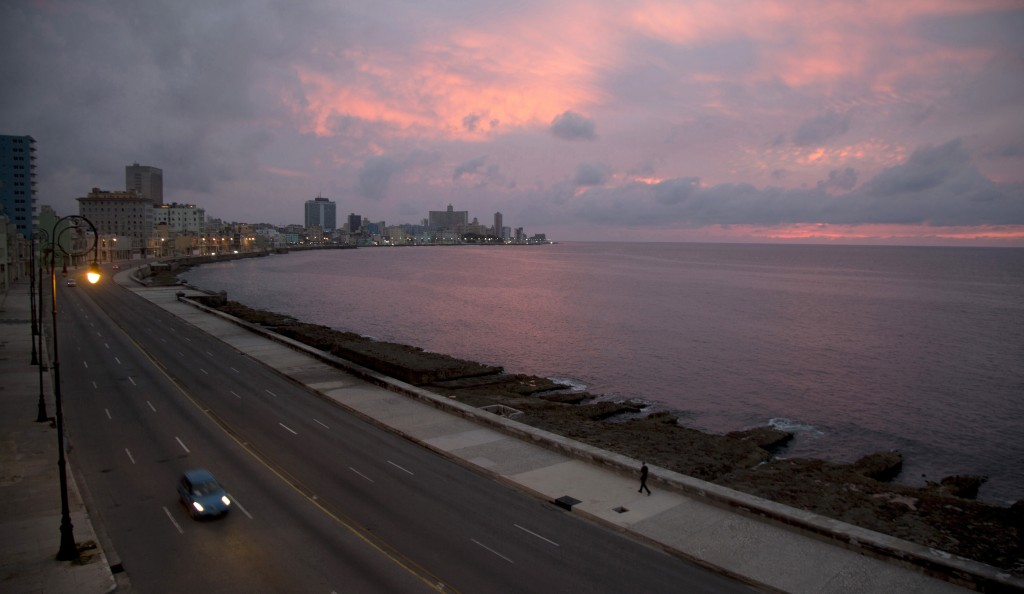 The Malecon waterfront is devoid of people during a lockdown to curb the spread of COVID-19 in Havana, Cuba, Thursday, June 18, 2020. With coronavirus...