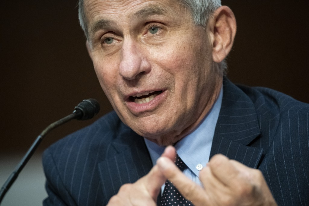 Director of the National Institute of Allergy and Infectious Diseases Dr. Anthony Fauci speaks during a Senate Health, Education, Labor and Pensions C...