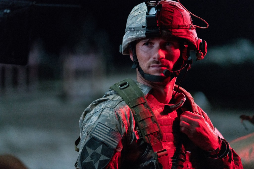 "This image released by Screen Media shows Scott Eastwood in a scene from ""The Outpost."" The film tells the story of the heroic Battle of Kamdesh in Af..."