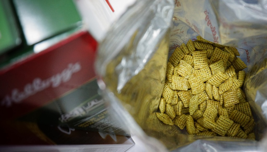 The new green onion flavored Chex cereal is seen in its packaging in Seoul, South Korea, on Wednesday, July 1, 2020. The cereal has become a sensation...