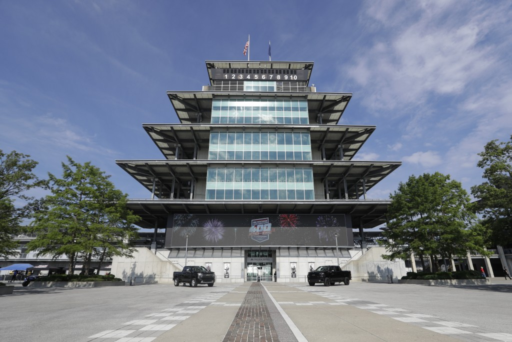 The Pagoda is seen at Indianapolis Motor Speedway in Indianapolis, Friday, July 3, 2020. Roger Penske has spent the six months since he bought Indiana...