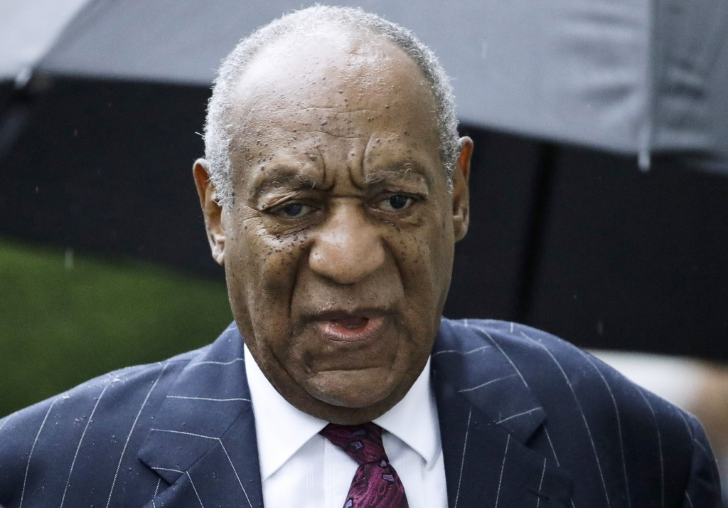 FILE - In this Sept. 25, 2018, file photo, Bill Cosby arrives for a sentencing hearing following his sexual assault conviction at the Montgomery Count...