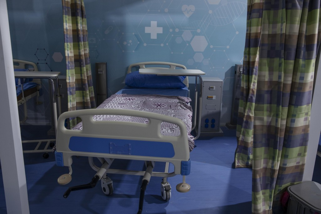 FILE - In this June 17, 2020 file photo, hospital beds are prepared to receive COVID-19 patients at Ain Shams University Field Hospital in the Egyptia...