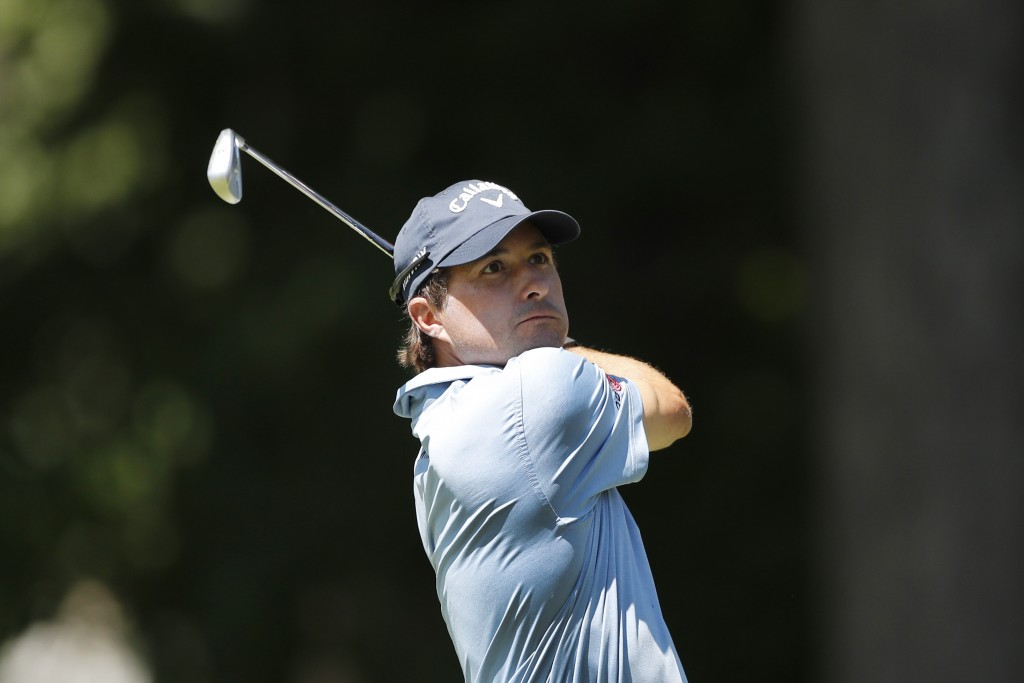 Kevin Kisner drives on the 11th tee during the final round of the Rocket Mortgage Classic golf tournament, Sunday, July 5, 2020, at Detroit Golf Club ...