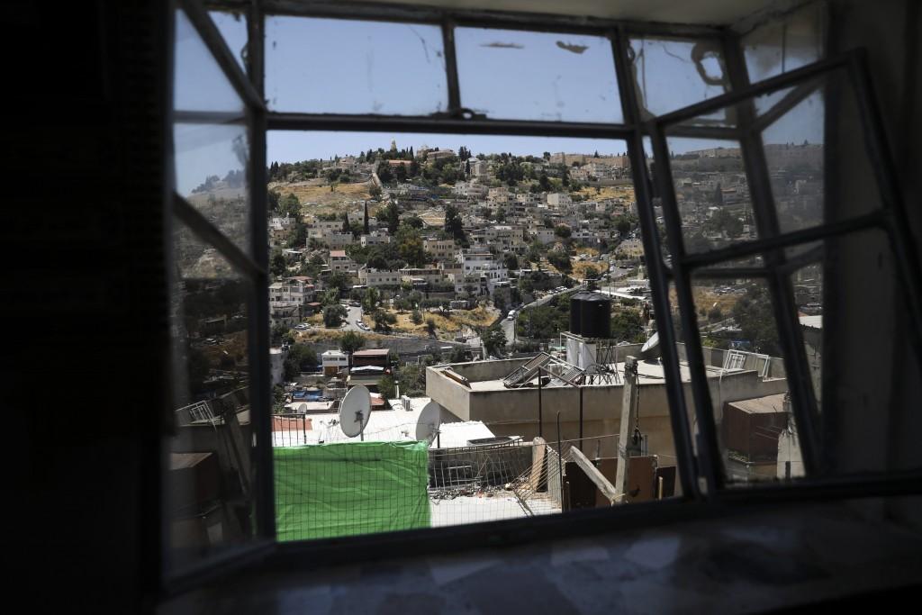 A general view of a Palestinian neighborhood of Silwan in east Jerusalem, seen on Wednesday, July 1, 2020. Israeli leaders paint Jerusalem as a model ...