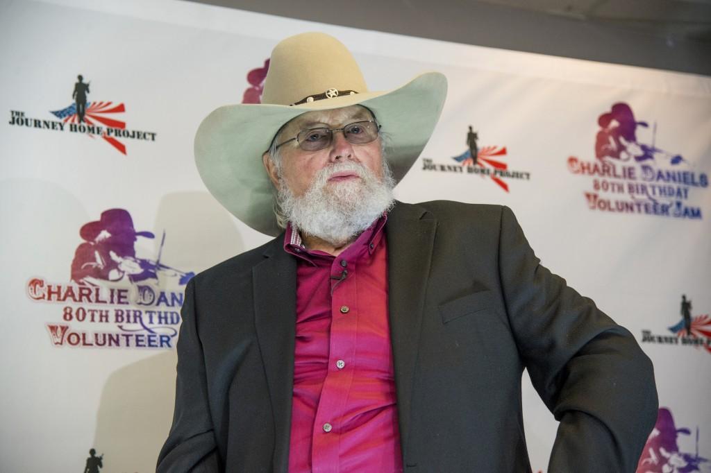 FILE - In this Nov. 30, 2016 file photo, Charlie Daniels appears at the Charlie Daniels 80th Birthday Volunteer Jam in Nashville, Tenn. Daniels who ha...
