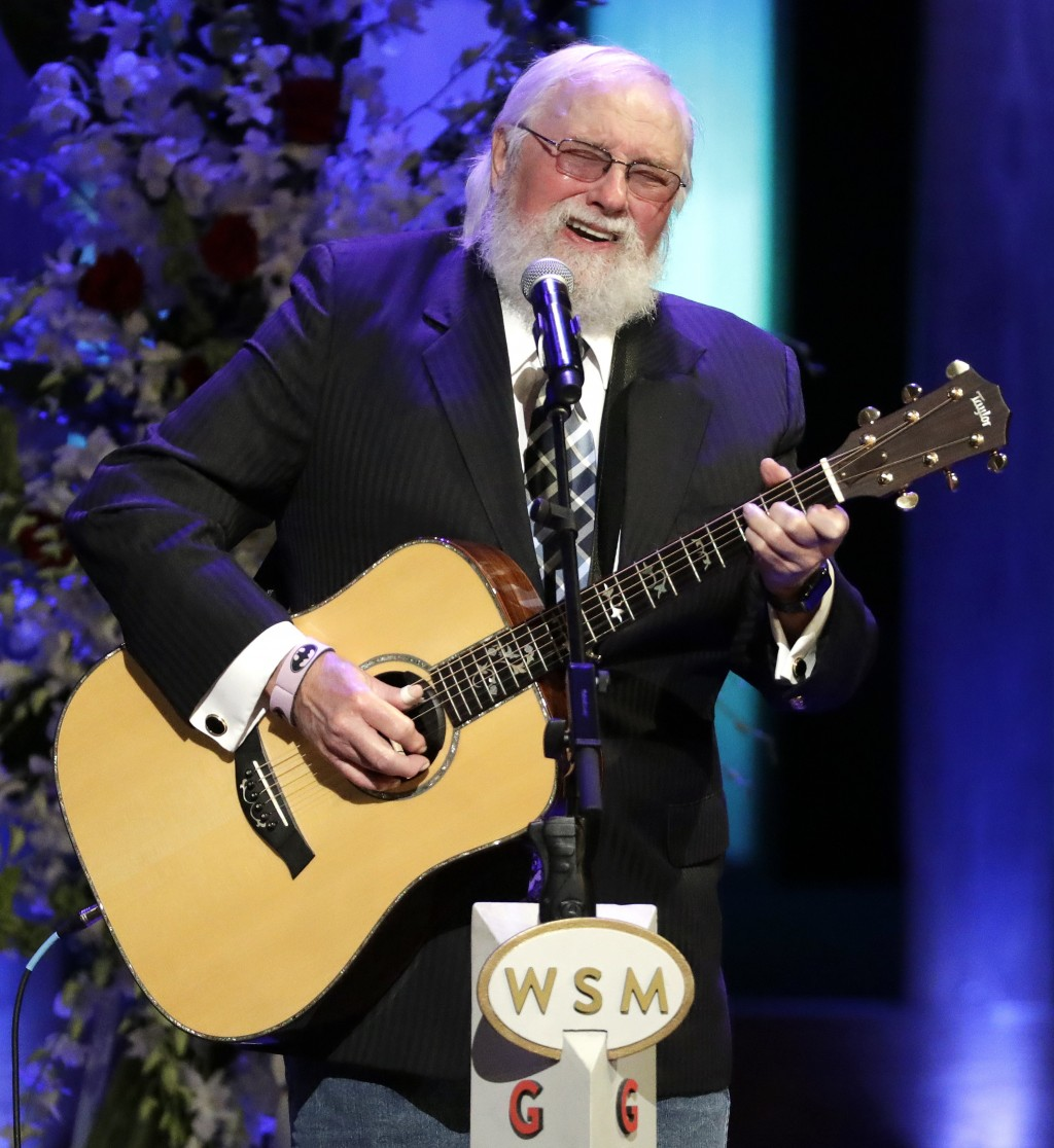 FILE - Charlie Daniels performs during a memorial service for country music singer Troy Gentry at the Grand Ole Opry House on Sept. 14, 2017, in Nashv...